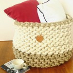 (GAllery)Wool and hemp giant basket with cushions